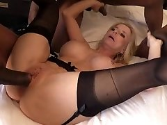 Big butt babe with dark nipples getting fucked good