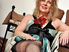 Angel Lovette Black Stockings