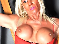Sexy Tranz Girl Leona loves to show off her great figure and fantastic big tits in some...