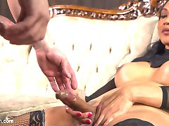 Yasmine Lee is perfection as always dominating Rick with her huge hard cock. He takes it all deep down this throat. Rick also loves transexual cock pounding hard in his ass and with a woman like Yasmine Lee giving it who wouldn't beg for that huge delicious load of hers! Not to be missed!