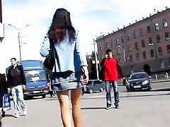 Amazing butt upskirt on a sunny day