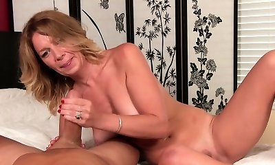 Nasty smoker slut gobbles on a big fucking cock and gets fucked
