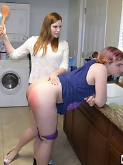 Alex Spanks Her Brother Bloody Hard