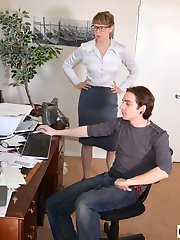 Kade Spanked in Office