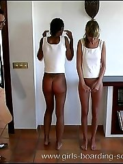 Two innocent school girls punished on their sweet virgin asses
