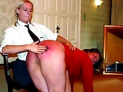 Fat slut with enormous ass gets a blistering paddling and caning - purple bruises