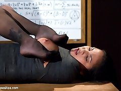 Welcome the adorable Adrianna Luna to WhippedAss.com! Adrianna may be new, but she arrives with a need to be dominated and then teased and denied by a vicious hot lezdom! In this fantasy roleplay Adrianna plays a student in need of tutoring. When her professor sends her to his house to be tutored by his wife, Adrianna soon finds out that getting straight A\'s in his class means only one thing: making the professor\'s wife happy! Adrianna is spanked and paddled over the desk in her white panties. She\'s put in lesbian bondage and endures a painful beating and intense zipper. Her pussy is licked and fingered to orgasm. Finally felony mummifies her only leaving her useful parts free for foot worship, strap-on anal sex, ass licking, tit play, squirting orgasms and tease and denial.