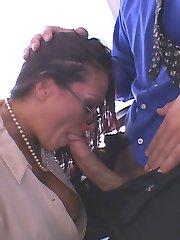 Sexy Milf Ava Lauren Bent Over Desk Taking Bosses Meaty Cock