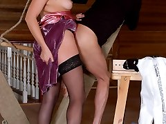 Awesome chick with huge strap-on ready to satisfy hot desire of kinky guy