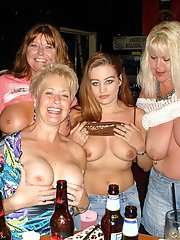 Tracy, Dee & the rest of the hottie wives all get together with site members for their monthly bar meet & greet.