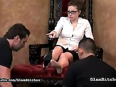 Feet and shoes licking sounded like a less painful choice, but it was still humiliating as he had to do a good job of it before she lets him go