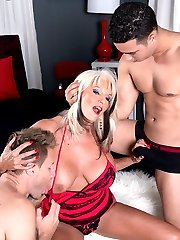 Cumming-on Party For A Mature Bra-buster