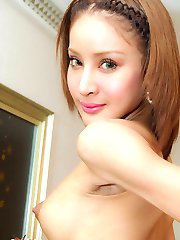 See ladyboy banged in pumps and pantyhose