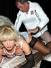 Kim gets bent over and fucked from behind before she gives a wet blowjob.