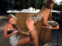 Nicole Sheridan and Fujiko Kano are naughty lesbians showing off their spanked bare bottoms