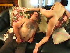 Mature couple sharing a hot lady boy