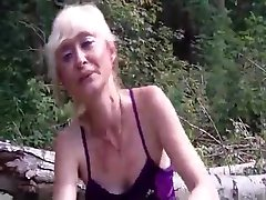 flashing in the woods