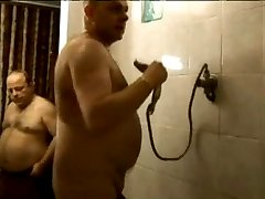 Chubby Gay Bears Fuck in Shower