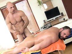 Straight bear massaged