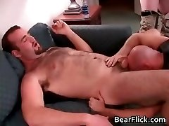 Extreme gay gang bang video horny bear part1