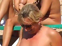 Nude Beach - Public Pool Playing