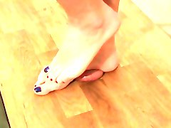 CBT Barefoot with cumshot