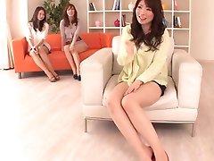 AzHotPorn.com - Hot Japanese Ladies Having An Orgy