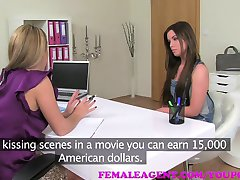 FemaleAgent MILF fools and fucks beautiful woman for the second time
