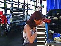 German Lady Gangbanged in Garage