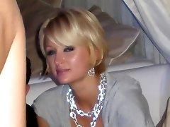 Beautiful Paris Hilton exposing her upskirt to everyone