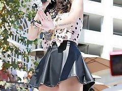 Hottest celebrity sexy up skirts