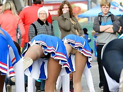 Girls are proud of their hot upskirts