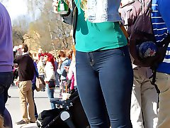 Real babes in the skin tight jeans