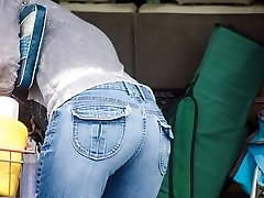 Tight jeans and thongs girls sexy