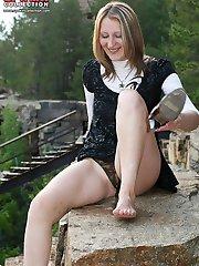 Peeking up the teen girls skirts