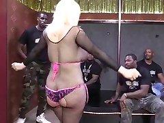 Buxom blonde stripper IR GB