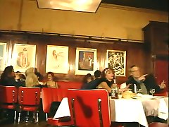 Euro Group Sex in a Public Restaurant!