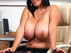 Busty babe Michelle welcomes you into her little office, and promptly gets down to business, the...