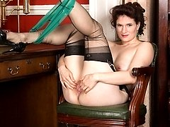 Brianna loves to exhibit her wanton side, especially in garters and sheer black ff nylons!