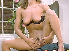 Chasey Lain pussy spreading on pool table