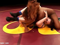 Cheyenne Jewel was ranked pretty high for SV for a girl who didn\'t even wrestle for us last year. She\'s been impressive all season and she has a decent shot at making to the finals for Summer Vengeance if she can get past Yasmine Loven.Fans of U/S don\'t seem to fully understand how outstanding Yasmine Loven is. She\'s only had a handful of matches and she\'s ranked 8th in Summer Vengeance. When Yasmine Loven is having a good day, she\'s unstoppable. She\'s a 19 year old Prodigy who\'s still learning how to tap into her greatness. Today she taps into that greatness and gets a chance to tap Cheyennes ass.Cheyennes thinks she has this one in the bag and as Yasmine bulldozes her on the mat she realizes she\'s in for a rude awakening. Cheyenne is in shock and awe of Yasmine\'s skill.
