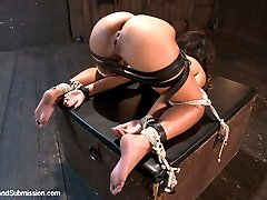 Teanna Trump gets put through her paces by Mr. Pete in this sexually charged bondage and rough...