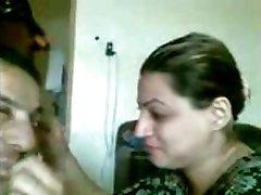 Mature arabic couple self video