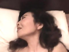 Asian gorgeous granny gets big cock guys