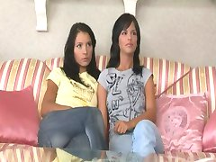 Two girls find a vibrator.