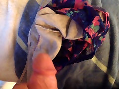 Cumming in my NOT sister&039;s dirty panties from the laundry