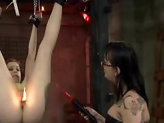 Femdom Lesbian Suspend And Whipping