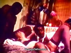 Interracial Sex with Funny Black Man 1960s Vintage