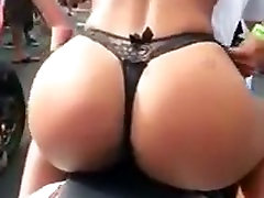 Girl showing her perfect ass in the motorbike
