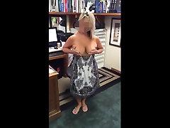 Amateur Suzie Flashing Tits at Work 001